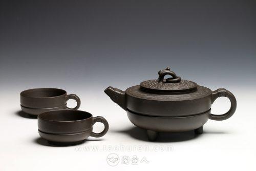 曹亚麟制龙玉韵(茶具)壶