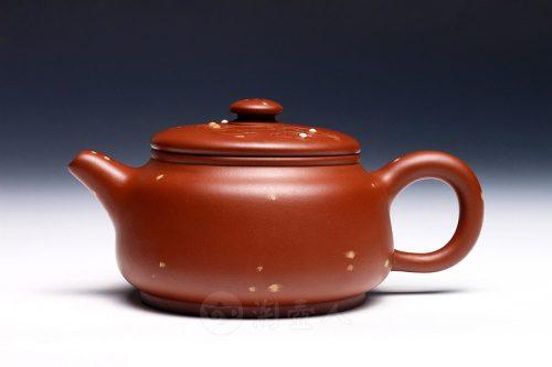 鲍仲梅制段砂红璧壶