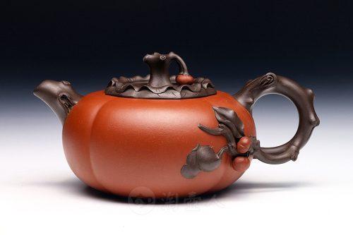 姚志泉制双色柿子壶