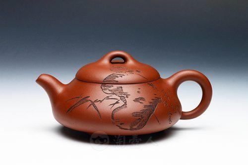 范建华制石瓢(徐放书画)壶