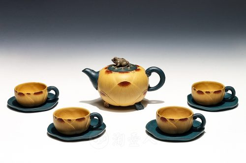 范永良制九件套荷花壶茶具壶